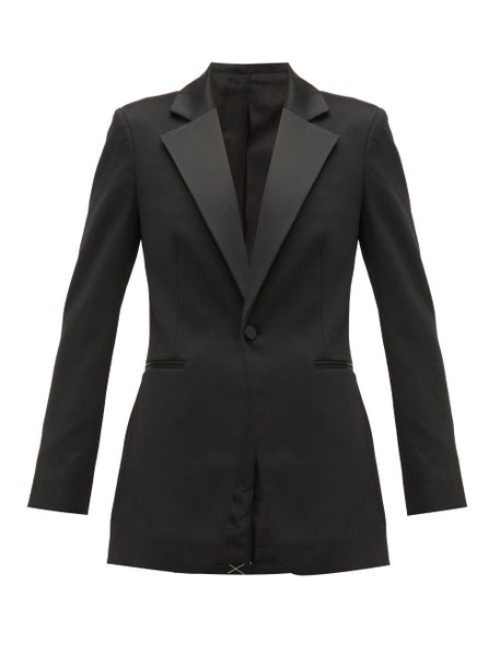 Joseph - Stearn Satin Lapel Tuxedo Jacket - Womens - Black
