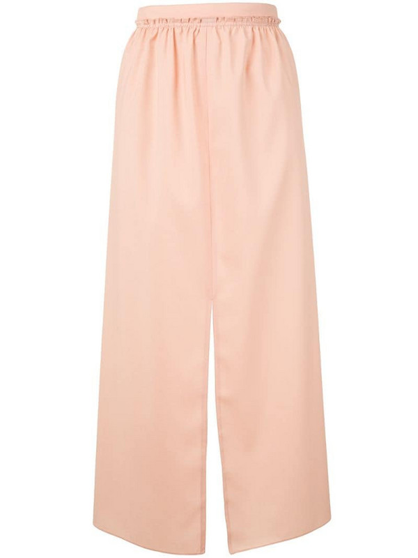 Maison Rabih Kayrouz split-hem midi skirt in pink