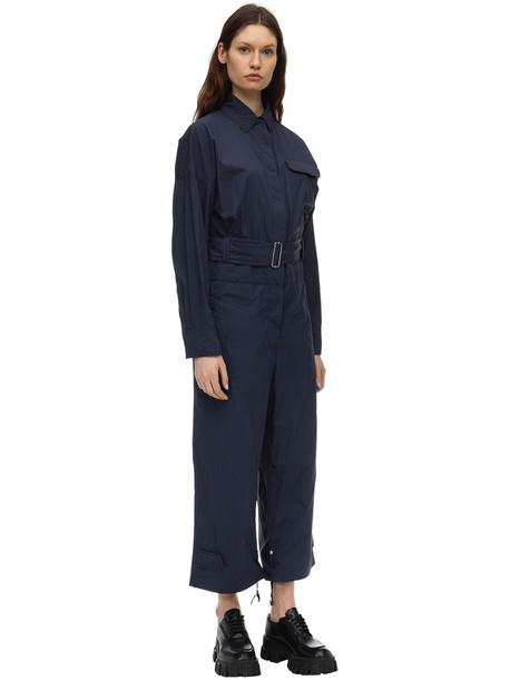 MONCLER GENIUS Cotton Jumpsuit in navy