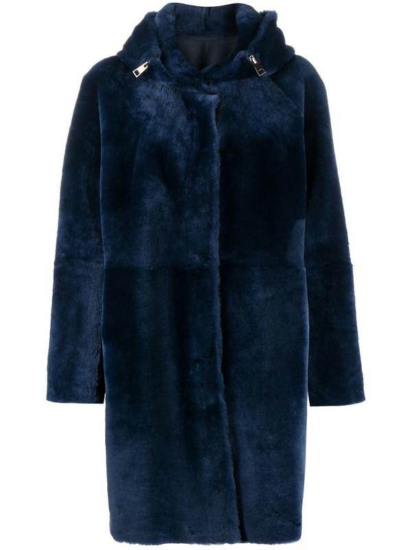 Suprema sheepskin coat in blue