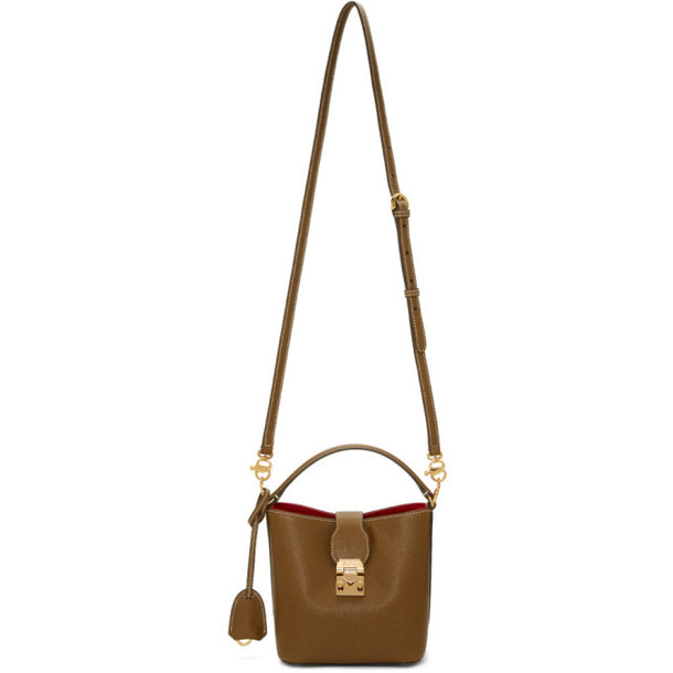 Mark Cross Brown Saffiano Mini Murphy Bucket Bag