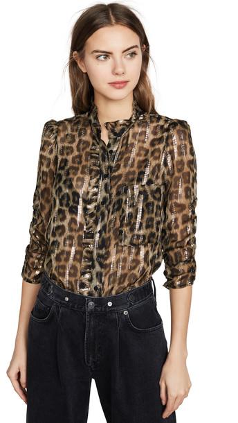 Ba & sh Leopard Blouse