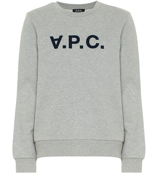 A.P.C. Viva cotton sweatshirt in grey