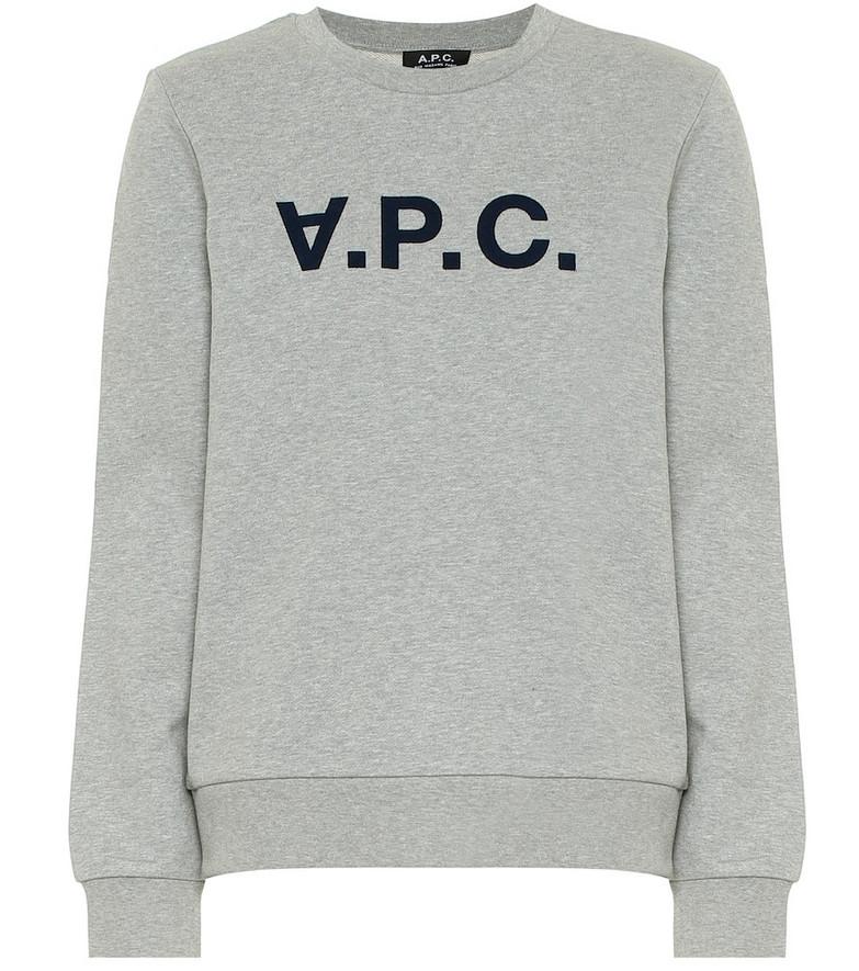 A.P.C. Viva cotton sweatshirt in grey