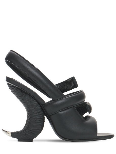 GIVENCHY 105mm Show 4g Padded Leather Sandals in black