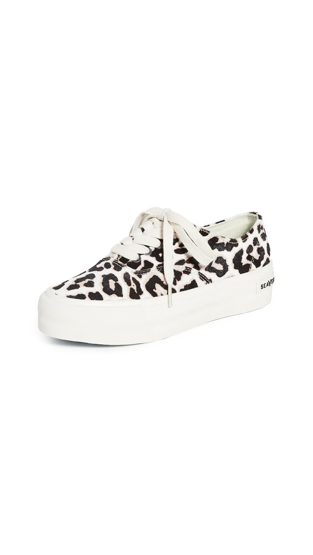 SeaVees Legend Platform Mulholland Sneakers in leopard