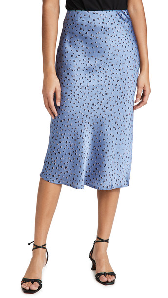 re:named re: named Talia Midi Skirt in blue / pink