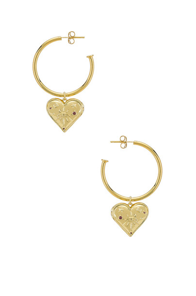 Wanderlust + Co Harlow Hoop Earrings in gold / metallic