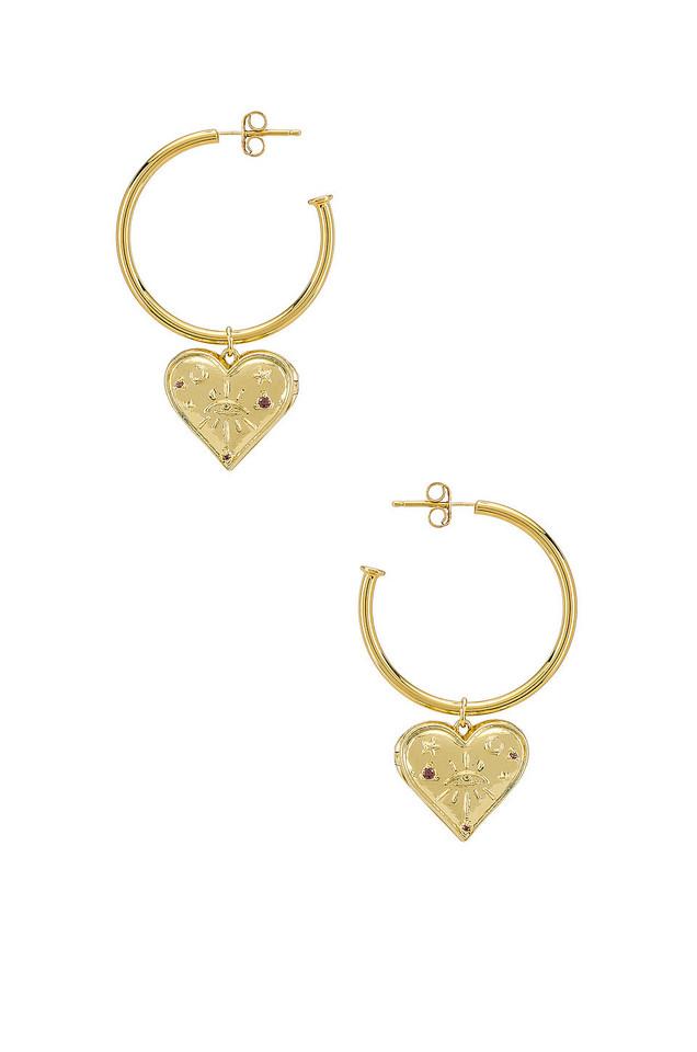 Wanderlust + Co Harlow Hoop Earrings in gold / metallic