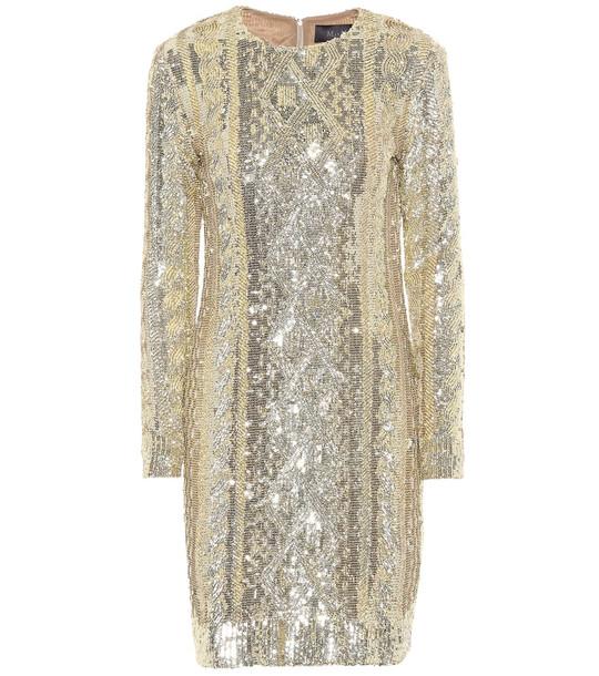 Max Mara Nicia sequined minidress in gold
