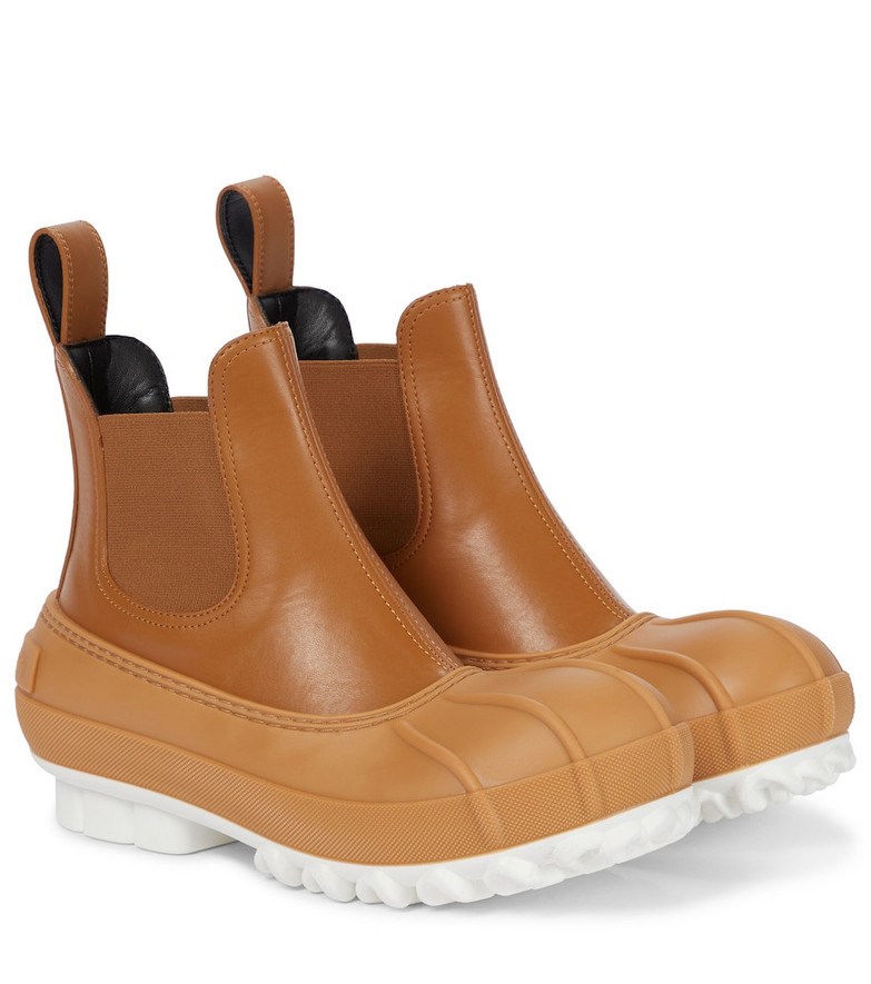 STELLA McCARTNEY Duck City faux leather Chelsea boots in brown
