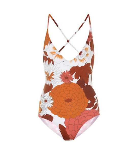 Dodo Bar Or Floral swimsuit in brown