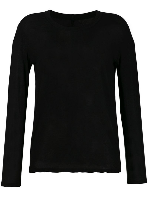 Zucca longsleeved T-shirt in black