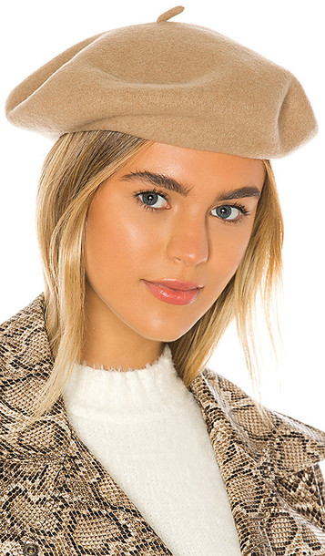 Brixton Audrey Beret in Taupe