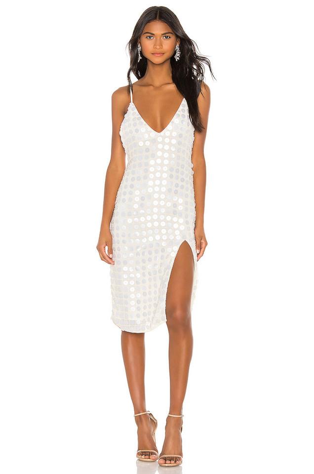 X by NBD Winny Midi Dress in white