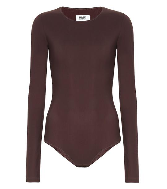 MM6 Maison Margiela Stretch-jersey bodysuit in brown