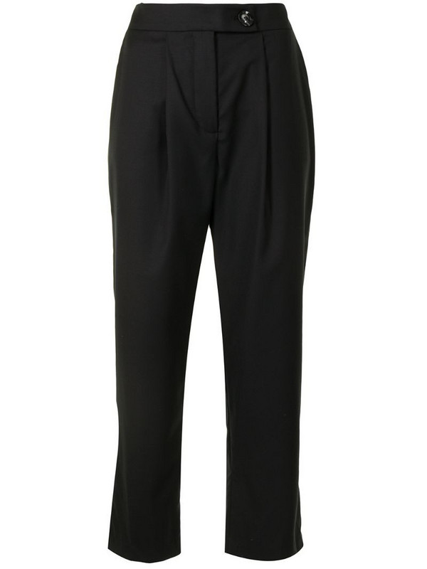 Anna Quan Cameron high-rise tailored trousers in black