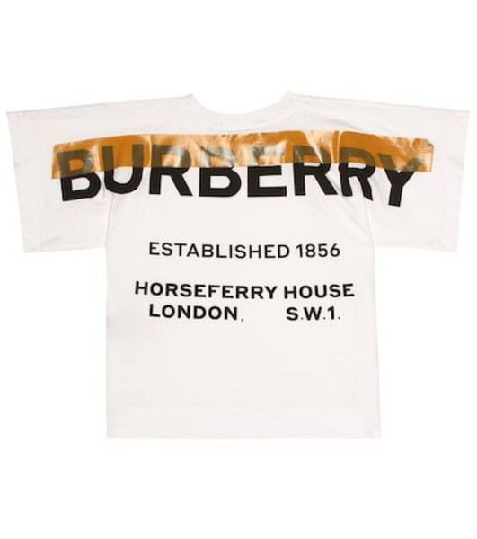 Burberry Kids Logo stretch cotton T-shirt in white