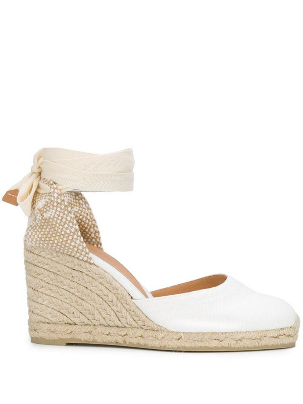 Castañer Carina wedge espadrilles in white