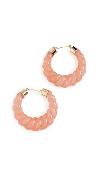 Loeffler Randall Janis Resin Hoop Earrings in pink