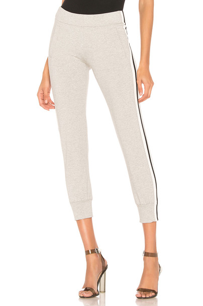 Norma Kamali Side Stripe Jog Pant in gray