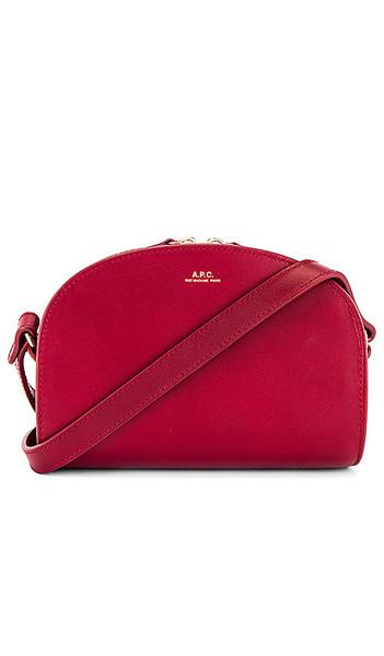 A.P.C. A.P.C. Sac Demi Lune Mini Bag in Red