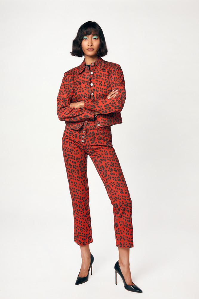 Miaou JUNIOR JEANS - RED LEOPARD
