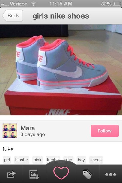 shoes swag nike pink white high top sneakers