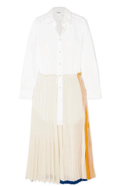 Sonia Rykiel - Layered Cotton-poplin And Jersey Maxi Dress - White