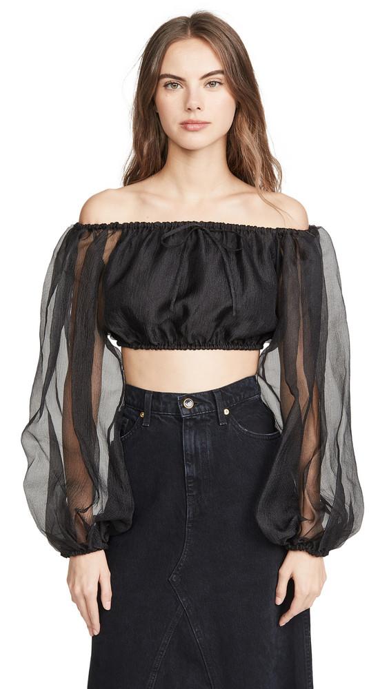 STAUD Leilani Top in black