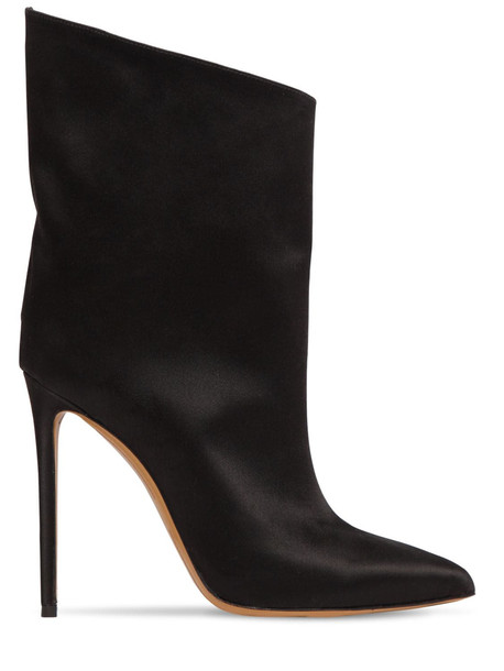 ALEXANDRE VAUTHIER 110mm Alex Satin Ankle Boots in black