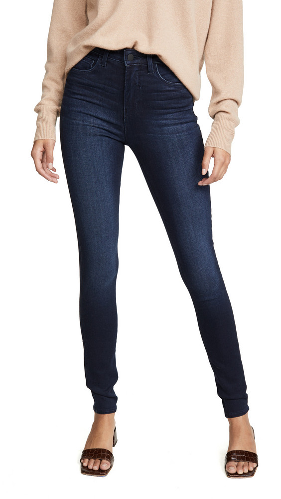 L'AGENCE Marguerite High Rise Skinny Jeans in blue