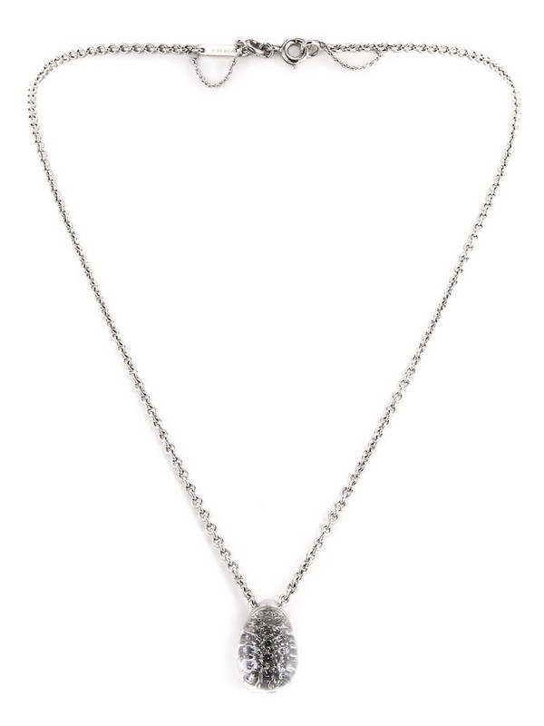 Cartier 2000s pre-owned white gold Myst rock crystal and diamond pendant necklace in silver