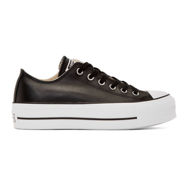 Converse Black Leather Chuck Taylor All Star Lift Sneakers