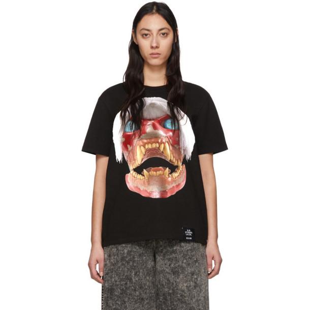 S.R. STUDIO. LA. CA. S.R. STUDIO. LA. CA. Black ED. 50 White Haired Red Skull T-Shirt