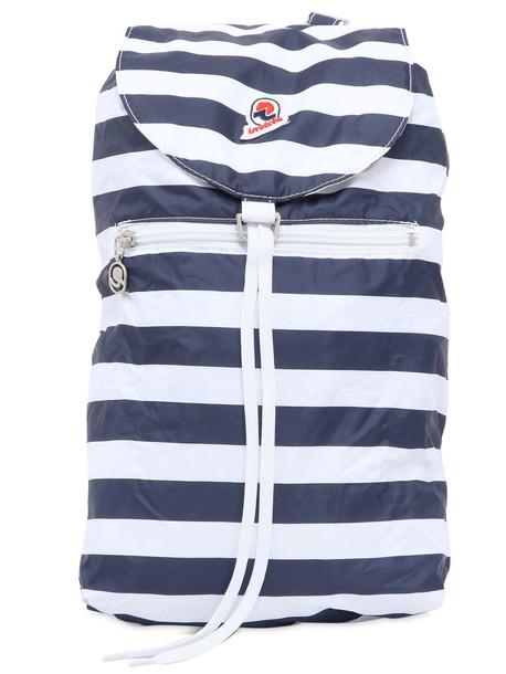 INVICTA Minisac Striped Backpack Nylon in navy / white