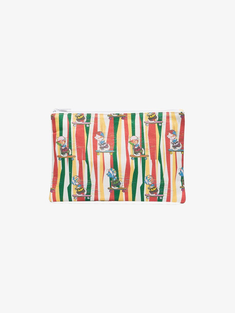 Private Label off-white striped cotton pouch