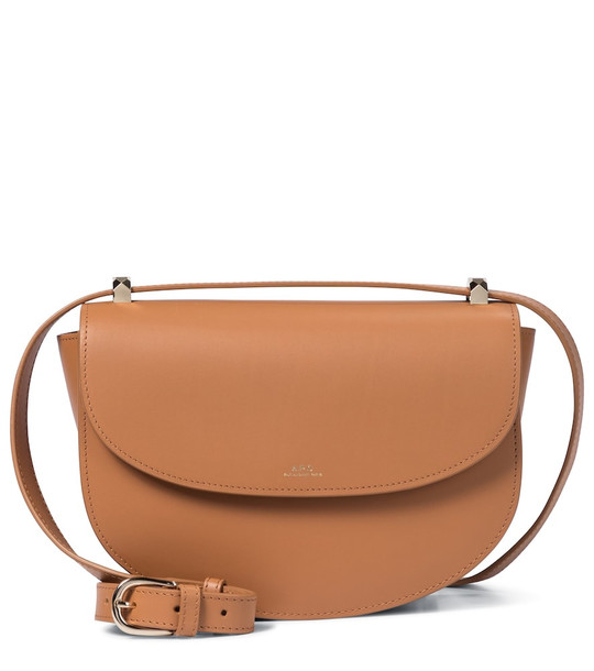 A.P.C. Exclusive to Mytheresa - Genève leather shoulder bag in beige