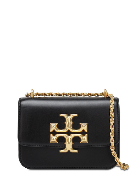 TORY BURCH Eleanor Small Leather Shoulder Bag in black