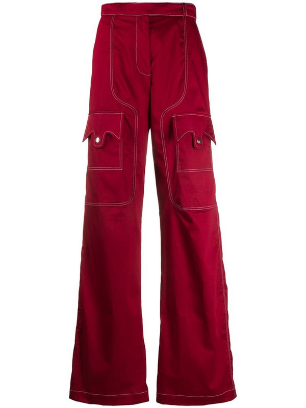 Thebe Magugu utility cargo pants in red