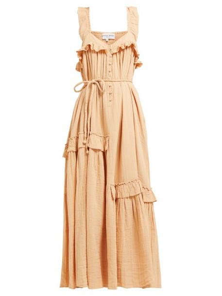 Apiece Apart - Lypie Ruffled Cotton Maxi Dress - Womens - Light Pink