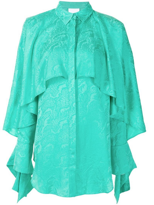 Acler Stanley draped blouse in green