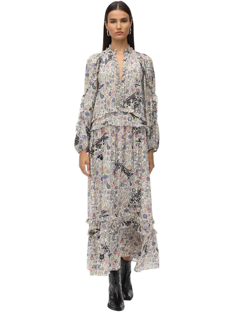 ZADIG & VOLTAIRE Printed Muslin Long Dress