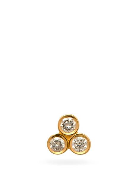 Sophie Bille Brahe - Flacon Petite Diamond & 18kt Gold Single Earring - Womens - Yellow Gold