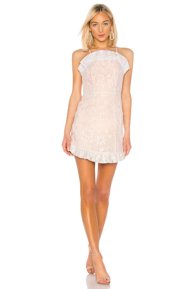 BCBGeneration Ruffle Hem Mini Dress in pink