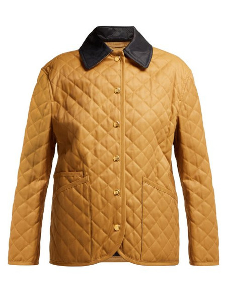 Burberry - Dranefield Single Breasted Diamond Quilted Jacket - Womens - Beige Multi