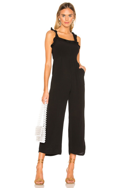 deacdb4930 superdown Victoria Ruffle Jumpsuit in black - Wheretoget