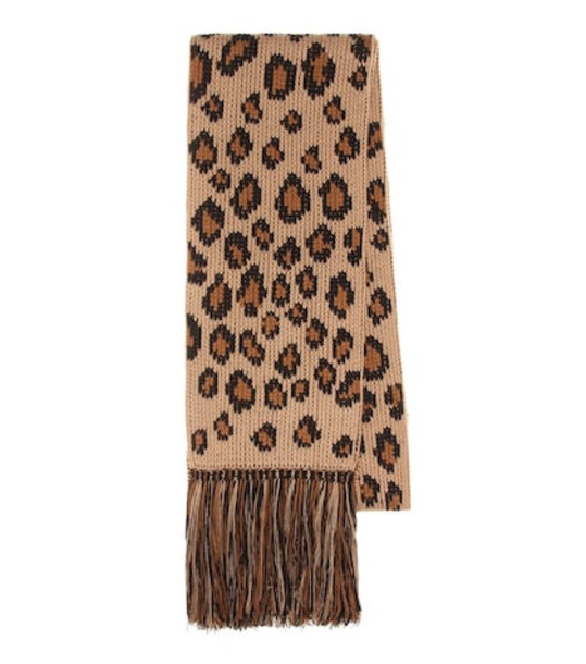 Alanui Wool and cashmere scarf in brown