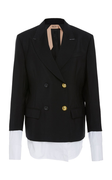 N 21 N°21 Double Breasted Blazer in black