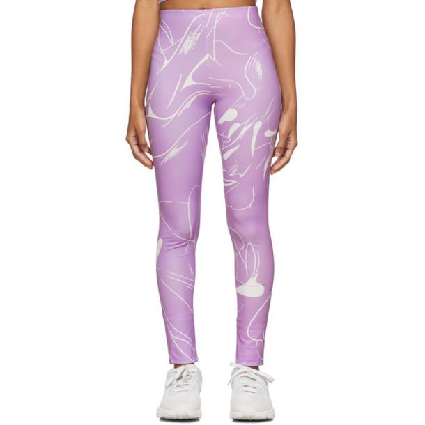 Danielle Cathari SSENSE Exclusive Purple Emblazoned Leggings